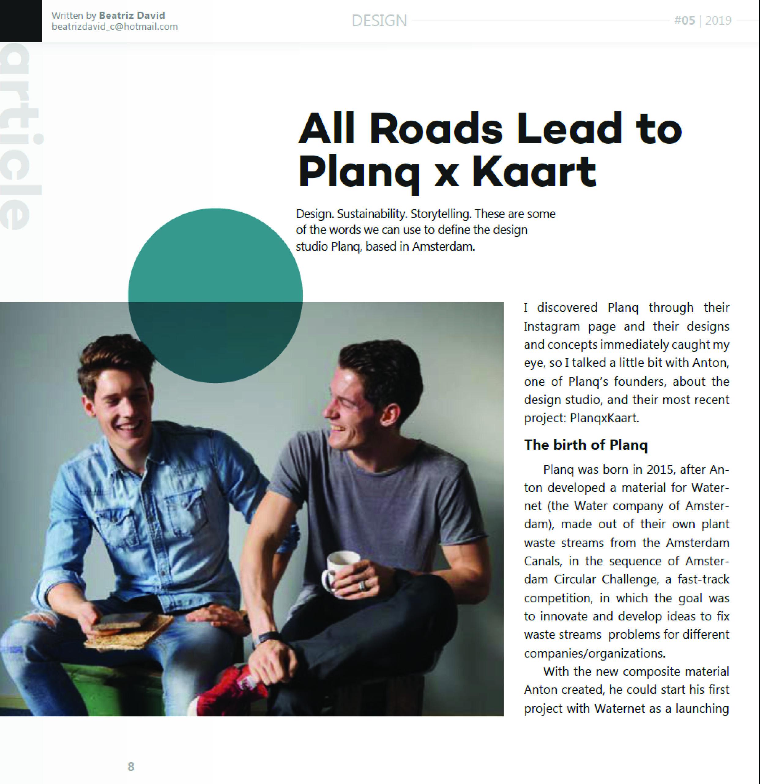 PlanqKaart interview - duurzaam ondernemen - Planq Studio - Kunst in Kaart