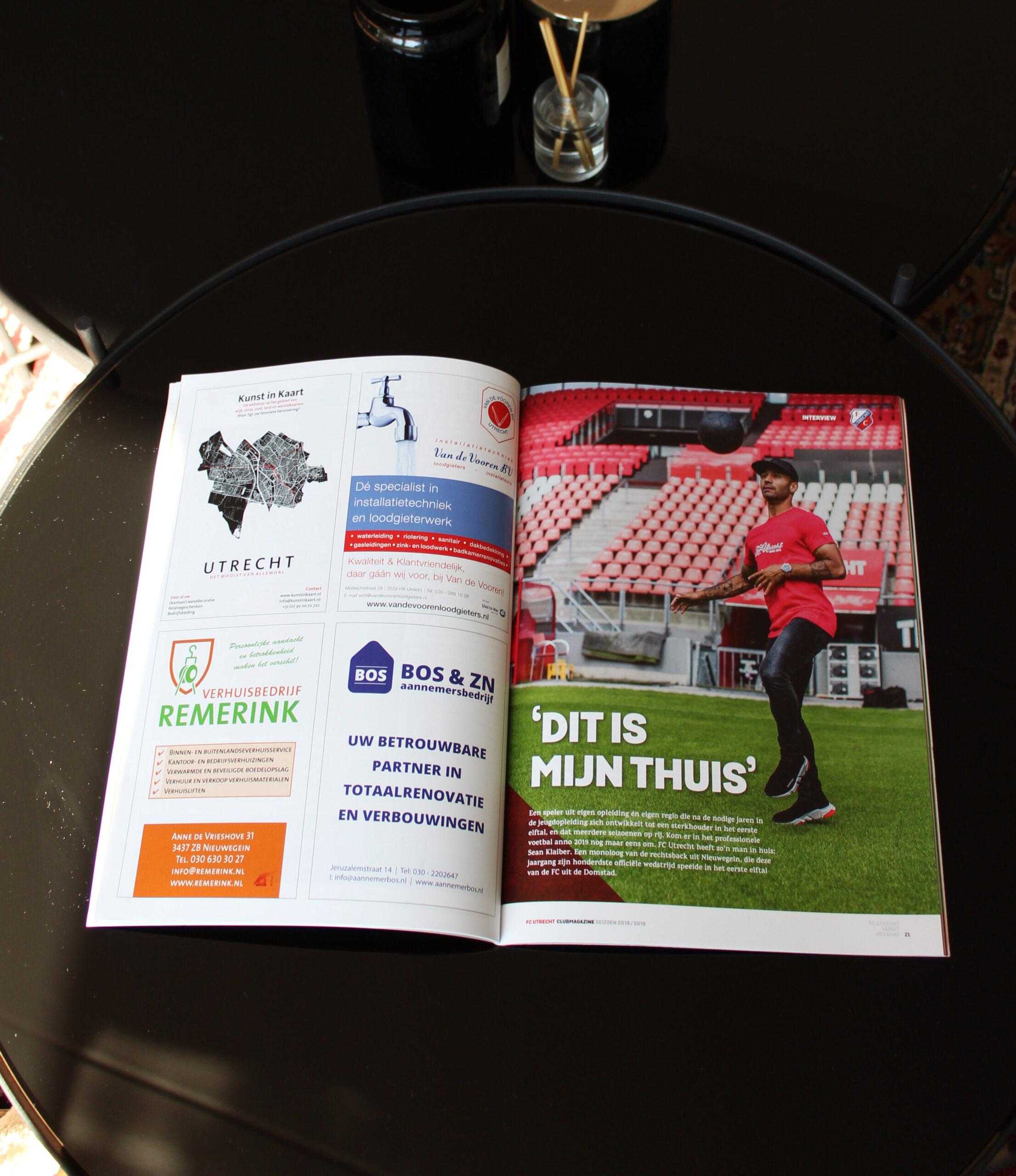 FC Utrecht x Kunst in Kaart - zakelijk cadeau