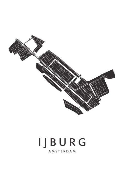 Amsterdam - IJburg Wijkkaart Poster