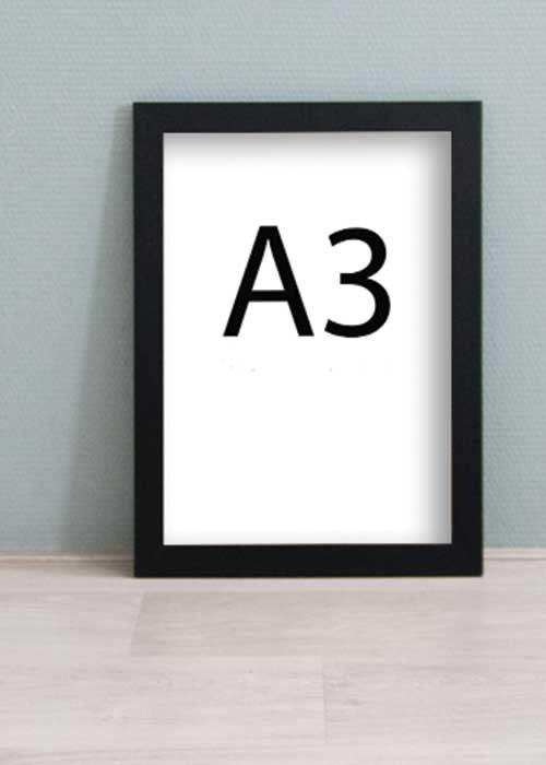 Zwarte houten wissellijst - A3 formaat