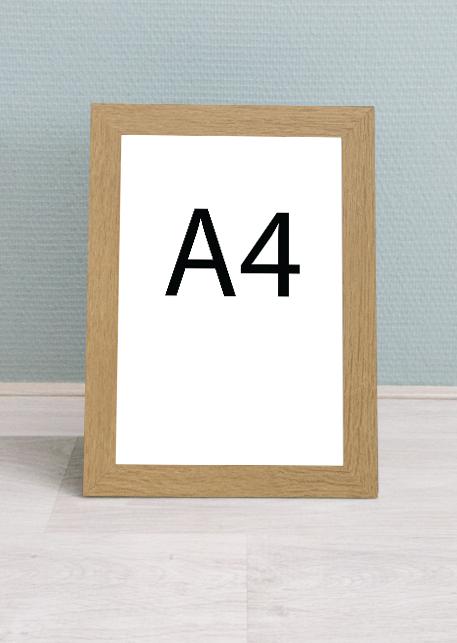 eiken houten wissellijst - A4 formaat