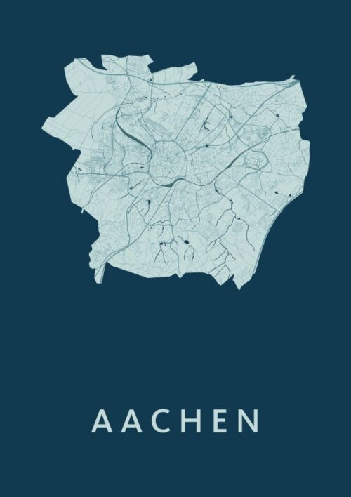 Aachen Feldgrau City Map