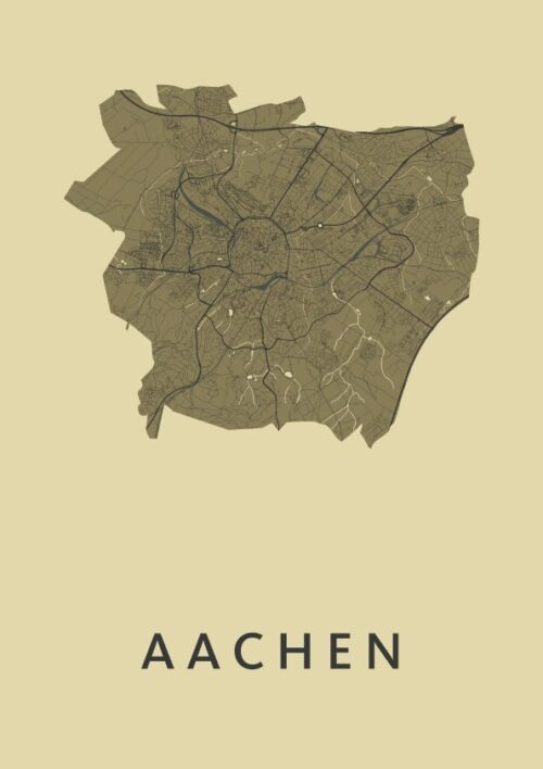 Aachen GoldenRod City Map