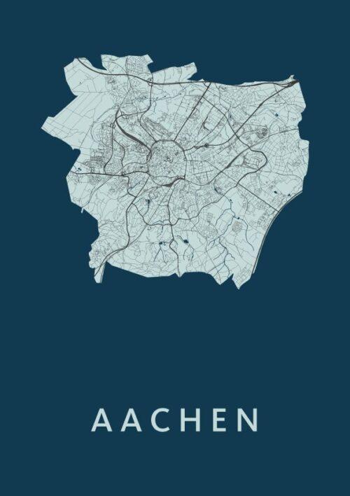 Aachen Navy City Map