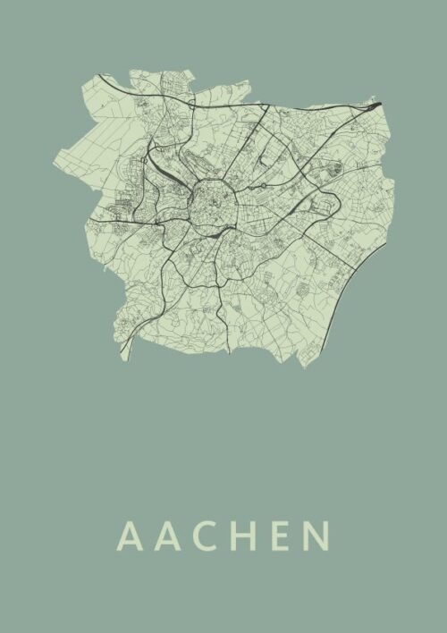 Aachen Olive City Map