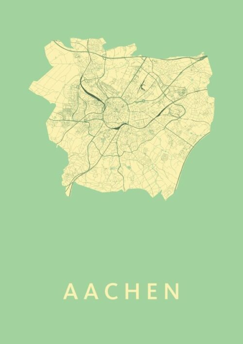 Aachen Spring City Map