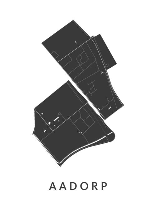 Aadorp Stadskaart - Wit | Kunst in Kaart