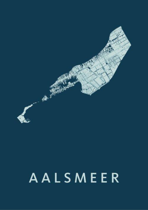 Aalsmeer Feldgrau Stadskaart Poster
