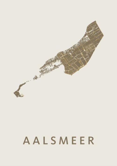 Aalsmeer Gold Stadskaart Poster