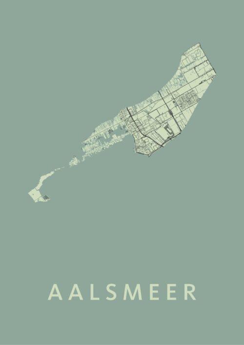 Aalsmeer Olive Stadskaart Poster