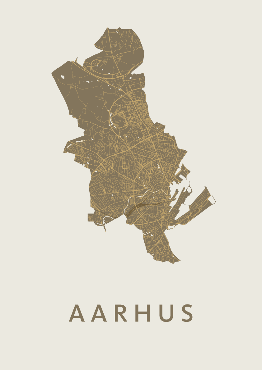 Gold City Map - Aarhus city map