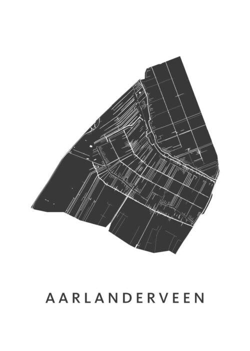 Aarlanderveen Stadskaart - Wit | Kunst in Kaart