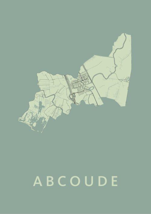 Abcoude Olive Stadskaart Poster   Kunst in Kaart