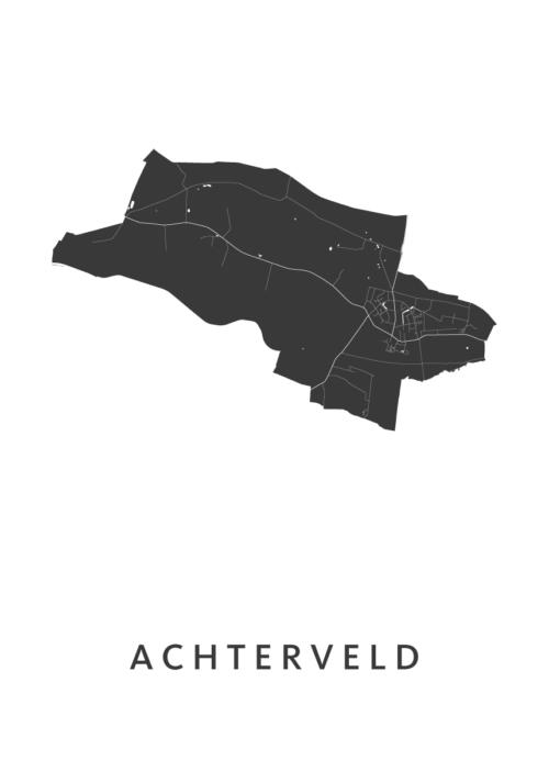 Achterveld Stadskaart poster | Kunst in Kaart
