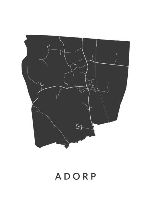 Adorp Stadskaart poster   Kunst in Kaart