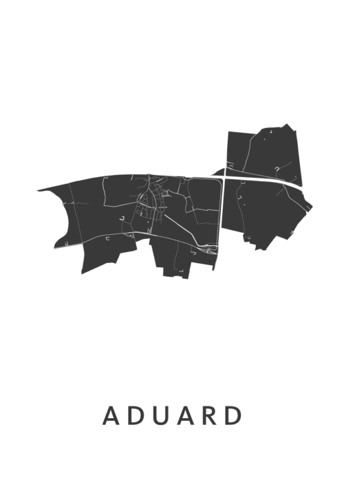 Aduard Stadskaart - Wit | Kunst in Kaart