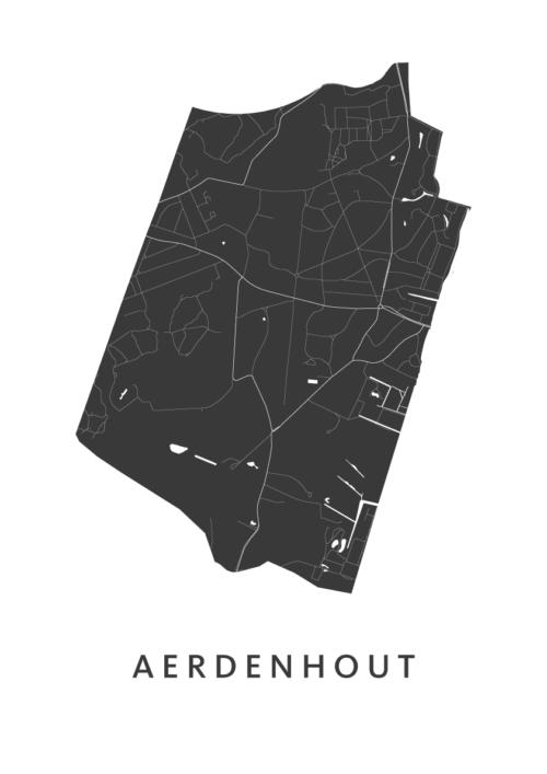 Aerdenhout Stadskaart - Wit | Kunst in Kaart