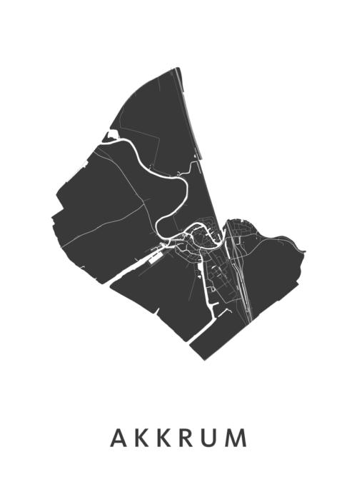 Akkrum Stadskaart poster