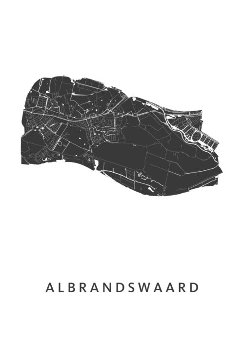 Albrandswaard White City Map