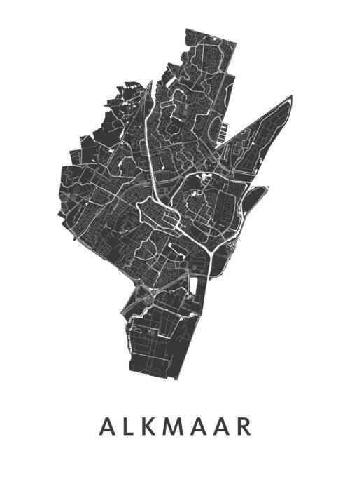 Alkmaar stadskaart poster plattegrond