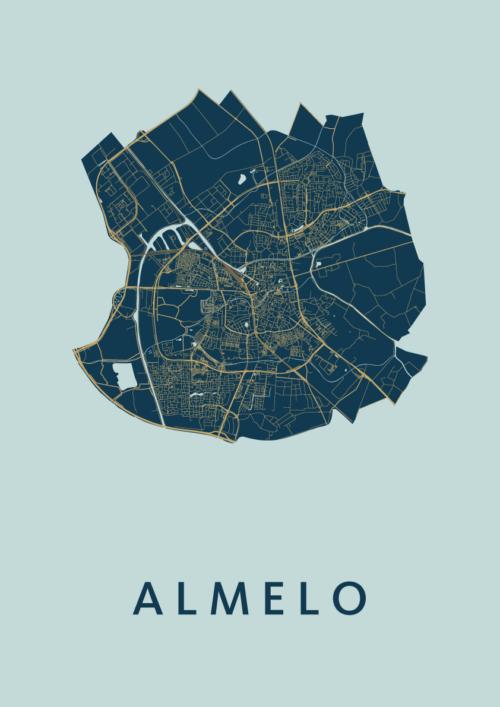 Almelo Prussian Stadskaart Poster