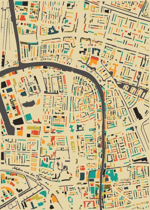 Alphen aan den Rijn Autumn Mosaic Map
