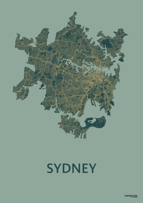 Amazon SYD stadskaart poster