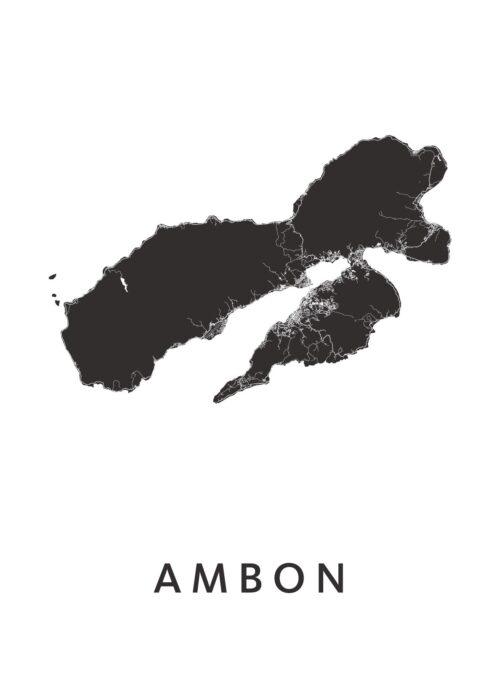 Ambon Eilandkaart Poster | Plattegrond | Kunst in Kaart