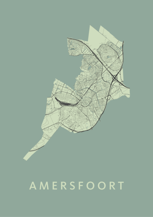 Amersfoort Stadskaart poster