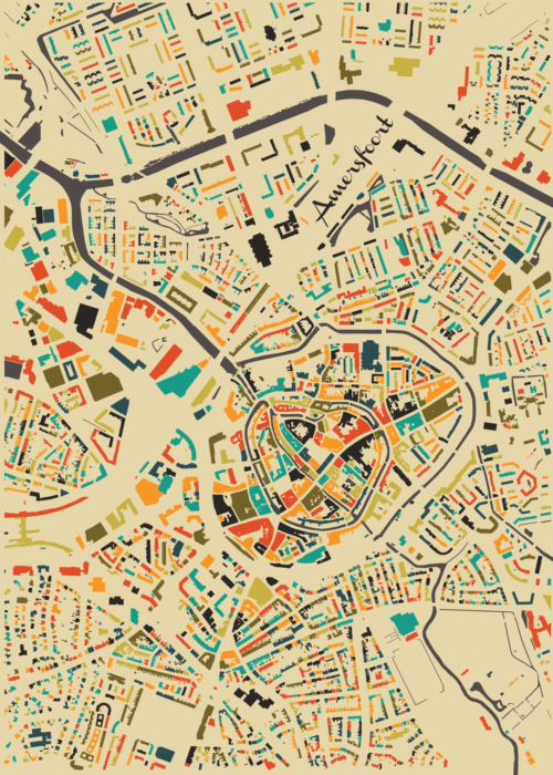 Amersfoort Autumn Mosaic Map