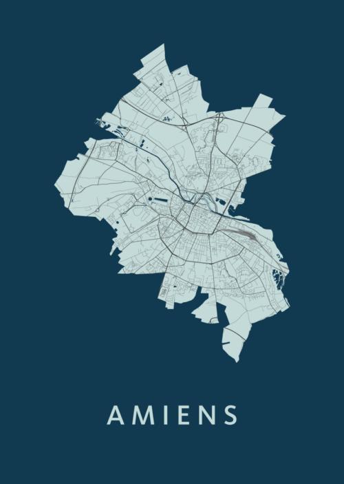 Amiens Navy City Map