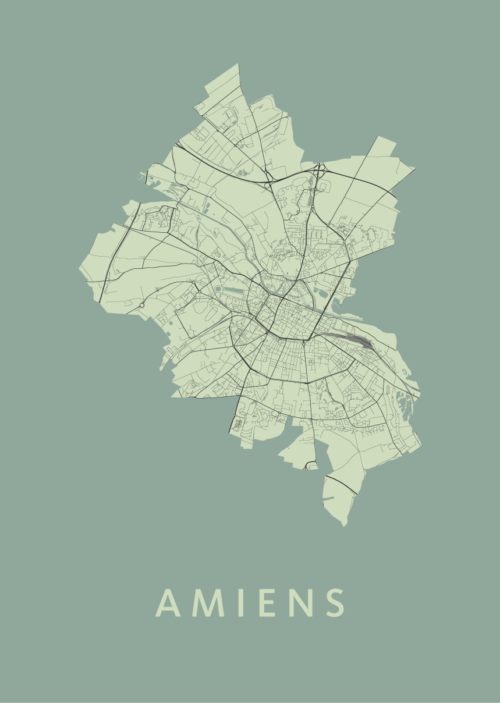 Amiens Olive City Map