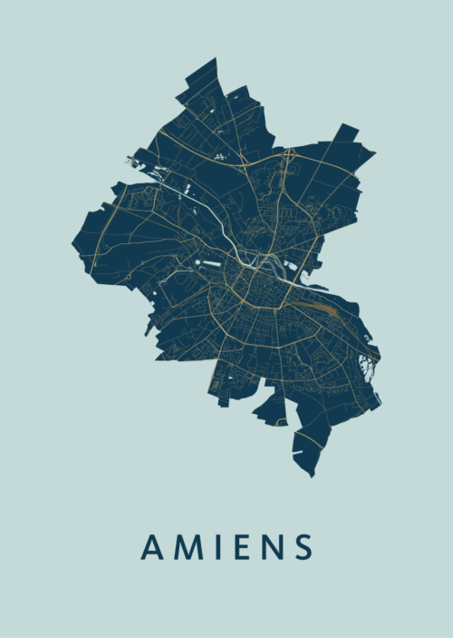 Amiens Prussian City Map