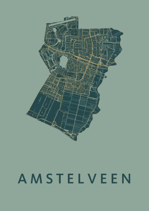 Amstelveen Amazon Stadskaart Poster