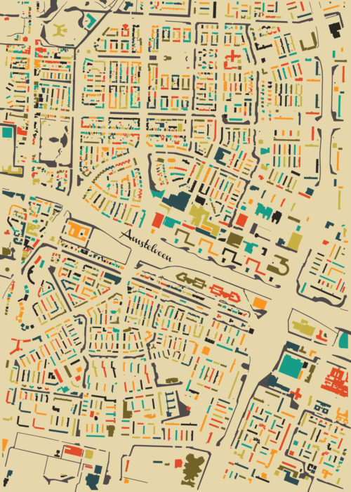 Amstelveen Autumn Mosaic Map