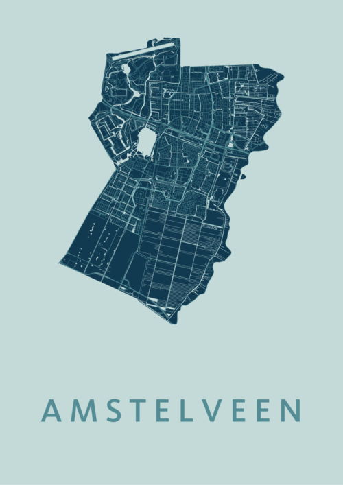 Amstelveen Mint Stadskaart Poster