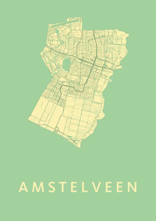 Amstelveen Spring Stadskaart Poster