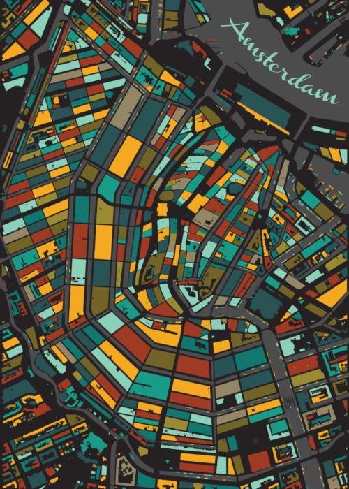 Amsterdam Leaf Mosaic Map