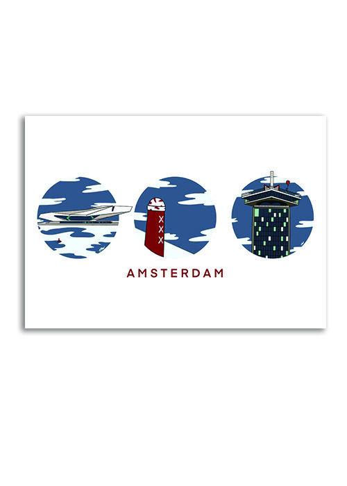 Amsterdam Moderne Mix - Poster