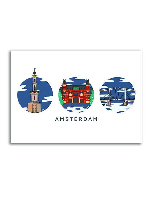 Amsterdam Klassieke Mix - Poster