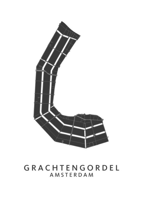 Grachtengordel Wijkkaart Poster