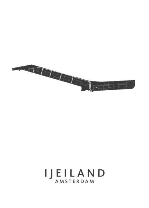 IJeiland Wijkkaart Poster