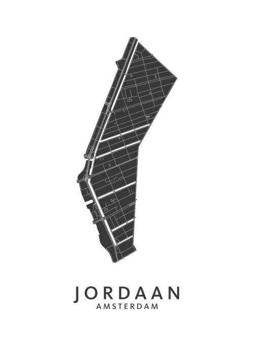 Jordaan Wijkkaart Poster