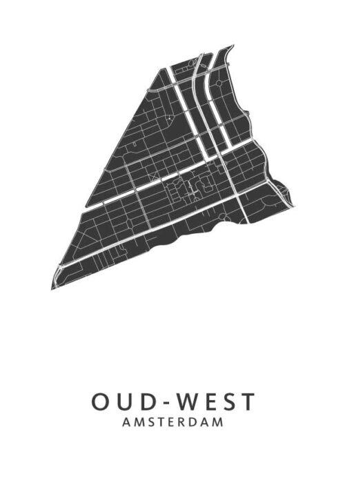 Oud-West Wijkkaart Poster