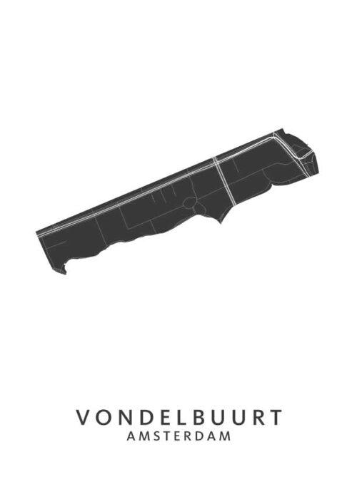 Vondelbuurt Wijkkaart Poster