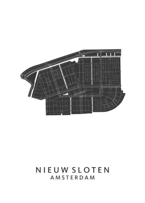 Nieuwsloten Wijkkaart Poster