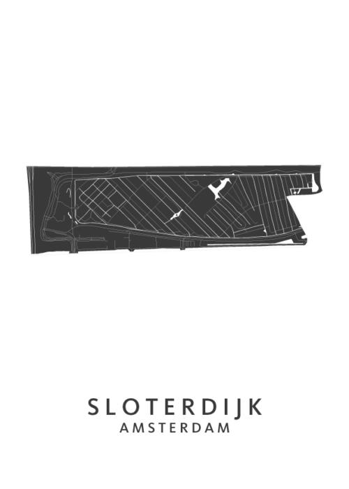 Sloterdijk Wijkkaart Poster