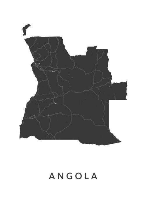 Angola Landkaart
