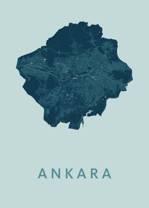 Ankara Mint Stadskaart Poster | Kunst in Kaart