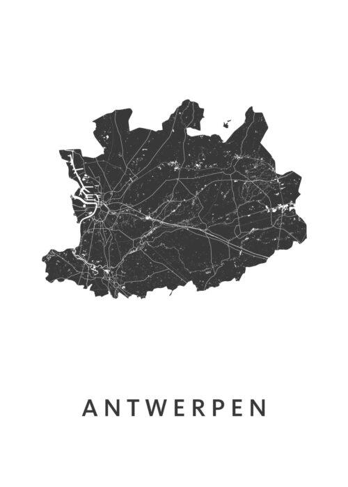 Antwerpen Provinciekaart Poster